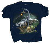 Dinosaur Kingdom Adult T-shirt